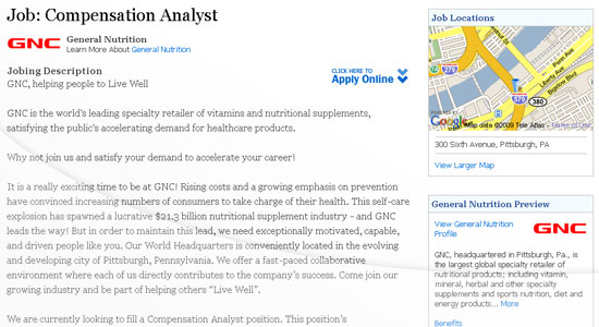 Other Features Include: Up to 10 job locations in Pittsburgh